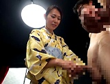 Hottie Imai Mayumi jerks of multiple schlongs picture 11