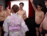 Superb gang bang action by hottie picture 14