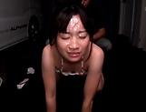 Alluring Ooshima Mio gets a creamy facial