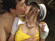 Naughty cosplay as Asian beauty Kitano Nozomi drilled hard