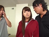 Cute Asian teen Hikaru Kakitani in hardcore gang bang