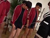 Stockings minx Ogata Runa penetrated and gets bukkake