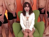 Gangbang and sex toys give a great combo