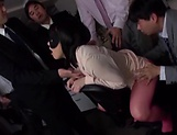 Big tits Asian Shibuya Kaho gets her shaved pussy nailed picture 13