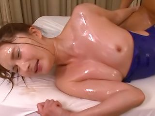 Spicy chick Sugiura Anna gets a wothy facial
