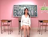 Cute Asian teacher Emiri Toda enjoys her cunt nailed picture 11