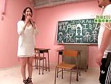 Cute Asian teacher Emiri Toda enjoys her cunt nailed picture 15