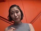 Cute Japanese AV model Imanaga Sana enjoys group sex gets a facial