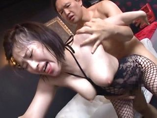 Cute Japanese AV model Imanaga Sana enjoys group sex gets a facial