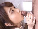 Cheerful Japanese girl Ogura Kana gets a massive facial cum load picture 11