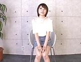 Cheerful Japanese girl Ogura Kana gets a massive facial cum load