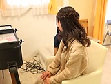 Japanese teen brunette likes sex toys picture 4
