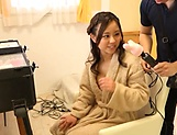 Japanese teen brunette likes sex toys