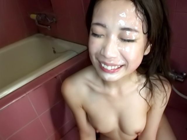 Hardcore princess Emiri Toda has cum on her face