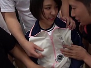 Hottie Hinata Mio enjoys a sensual fingering