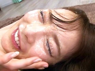 Japanese beauty, fucked hard and made to swallow