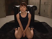 Hot Japanese girl Ogura Kana sucks many cocks gets bukkaked