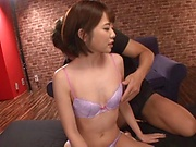 Pretty Asian AV model Ogura Kana gets banged and bukkaked