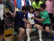 Arihara Ayumi wants a gang bang session
