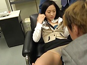 Cute office lady Yuuki Karina gets screwed and bukkakked