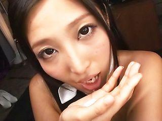 Perky tits honey Mizuki Airi gets a creamy reward