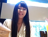 Haruno Maria gags on a huge stiff pole picture 11