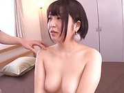 Inoue Mahoa plays with cock in full Japanese oral special
