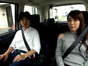 Sasaki Aki delivering a sensual hand job