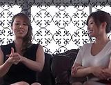 Yumi Kazama and Azumi Chino enjoying a big black schlong