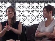 Yumi Kazama and Azumi Chino in a threesome fun