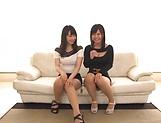 Cute Hatsuki Nozomi and Aizawa Yurina in a hot threesome