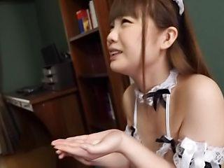 Busty babe Hinagiku Tsubasa enjoys an erotic tease indoors