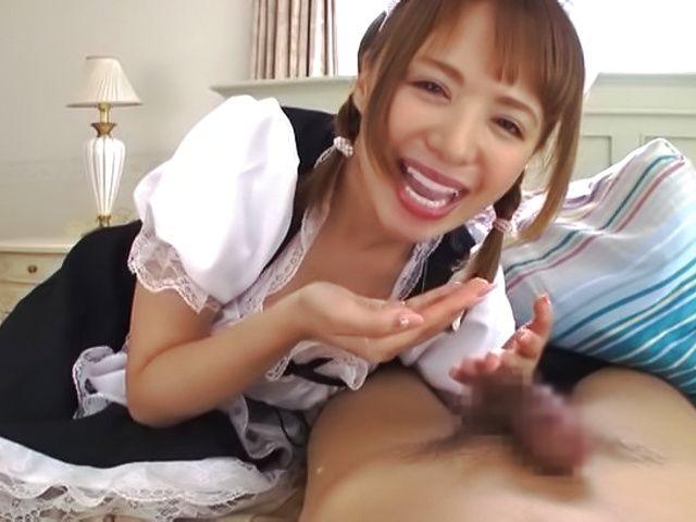 Hot Asian babe Rika Hoshimi gives a steamy head POV