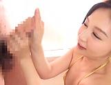 Sasaki Aki offers a wild sensual blowjob picture 13