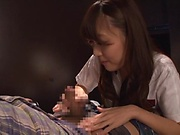 Horny office girl is into blowjobs