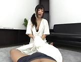 Hot Japanese temptress loves the taste of cock