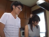Big tits Japanese amateur Kawaguchi Hasumi gets boobs fucked picture 11