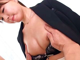 Yuuki Mai sucks her boss's dick while at the office
