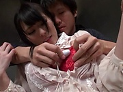 Cute Japanese amateur girl enjoys fingering and mouth fucking