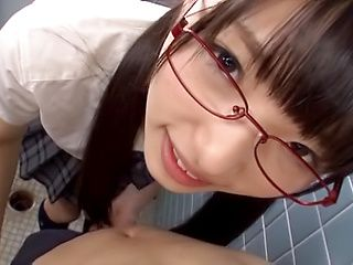 Hot schoolgirl Wasa Yatabe enjoys giving head