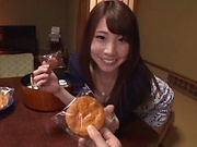 Chunky honey Hasegawa Rui taks pleasure sucking dong