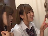Beautiful teen Saitou Miyu in raunchy blowjob scene picture 10