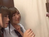 Beautiful teen Saitou Miyu in raunchy blowjob scene picture 12