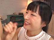 Arousing temptress Ayaka Yamada gives a sweet head