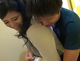 Japanese princess takes a worthy cum in mouth