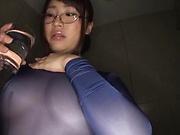 Nonomiya Misato looks sexy in her lingerie