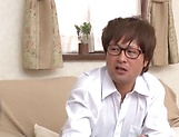 Adventuruous Japanese milf Maki Houjou in a foursome fuck picture 11
