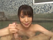 Astounding Japanese doll sucks the cock in outdoor