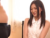 Hot Japanese amateur Yuuki Aina gives a steamy blowjob picture 13