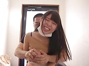 Aoi Rena gets a mouthful of dick